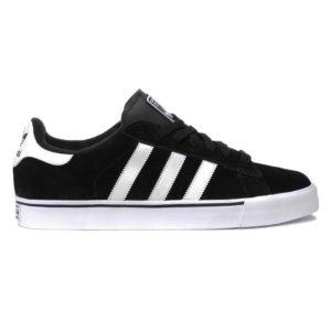 Chaussures ADIDAS SKATE Campus Vulc Noir & Blanc