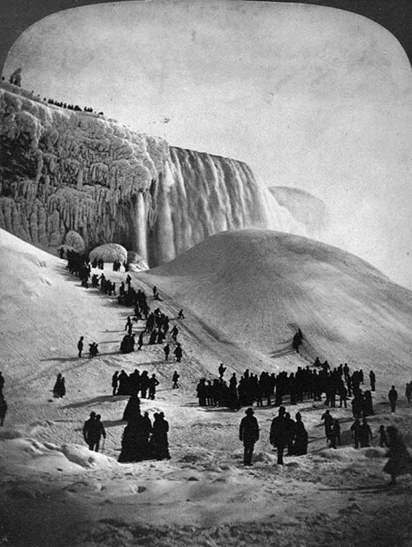 Les chutes du Niagara pendant l'hiver 1848