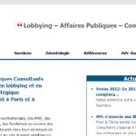 "Qui est ""Affaires Publiques Consultants"" ?"