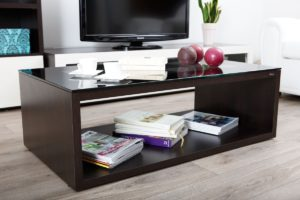 Table basse design verre Symbiosis