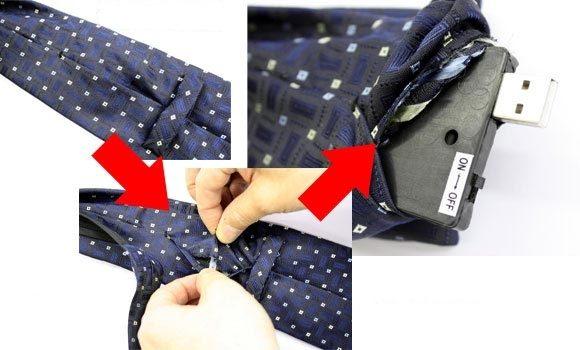 Espionnez partout grâce une cravate intelligente