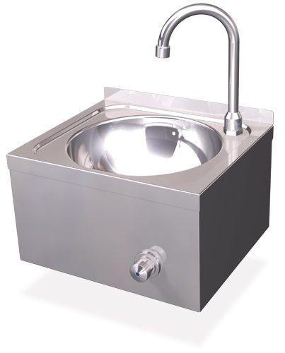 lave mains inox