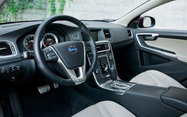 Intérieur de la Volvo