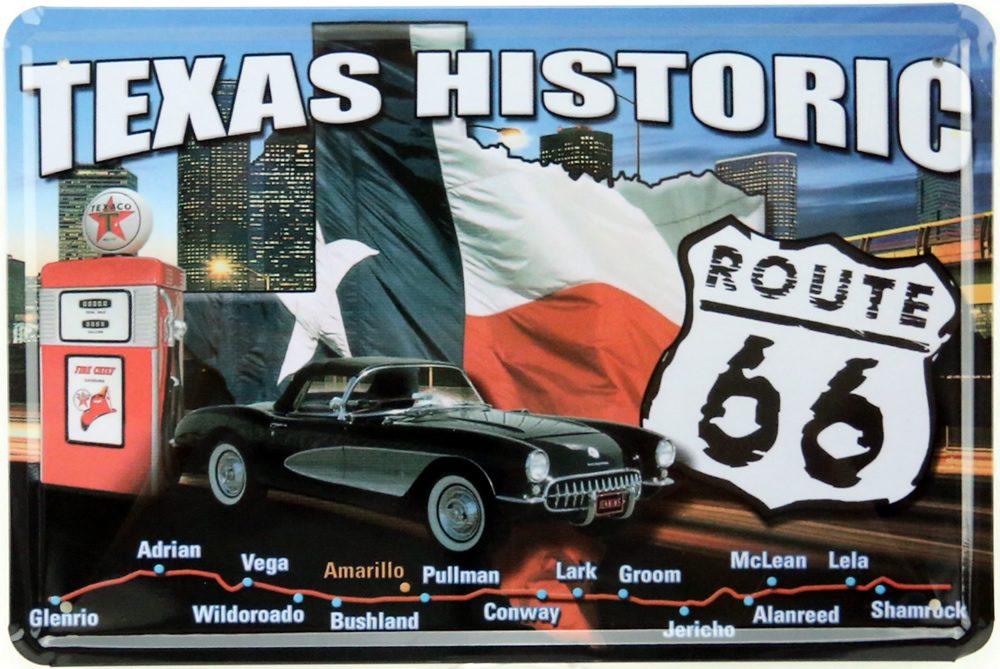 Vivez le rêve américain avec une plaque décorative de la Route 66