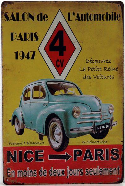 Plaque métal Paris-Nice