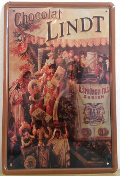 Plaque métal Lindt